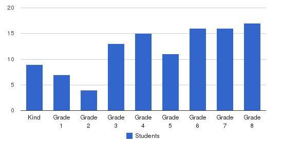 Almaden Preparatory School Students by Grade