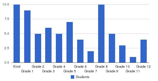 Union City Christian Academy Students by Grade