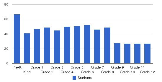 Foundation Academy Students by Grade
