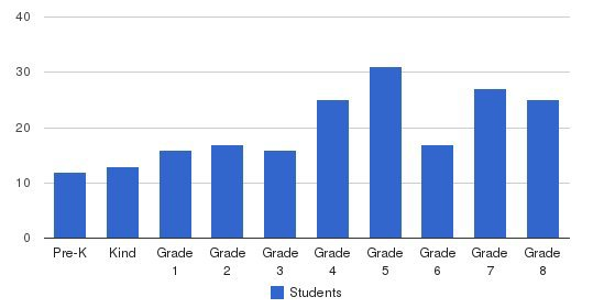 St Ambrose Elementary School Students by Grade