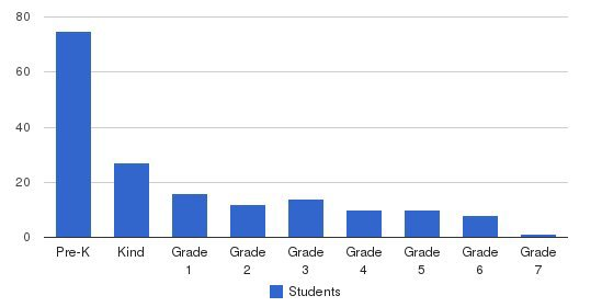 Summit Private School Students by Grade