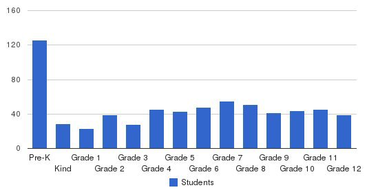 Warner Christian Academy Students by Grade