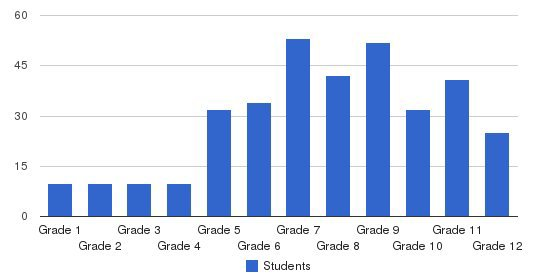 Mill Springs Academy Students by Grade