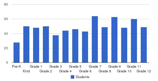 Whitefield Academy Students by Grade