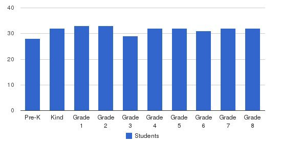 Maternity Bvm School Students by Grade