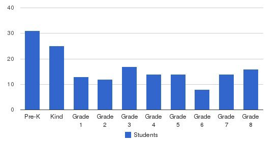 St Bruno Catholic School Students by Grade