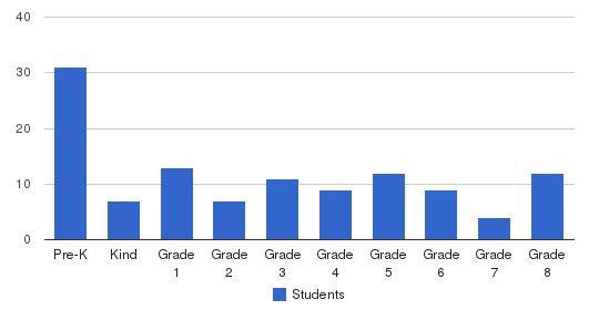St Luke Academy Students by Grade