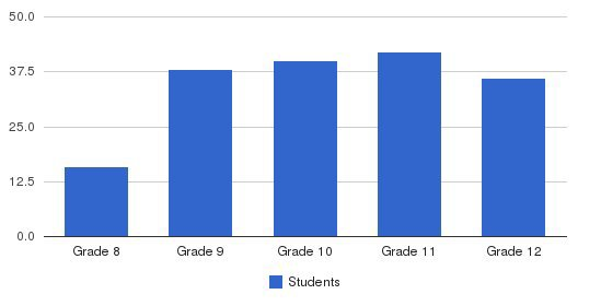 Subiaco Academy Students by Grade