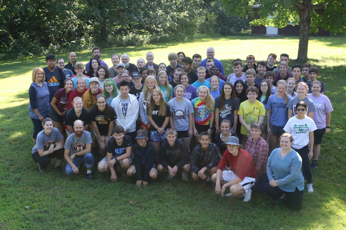 Hillcrest Academy Photo - During the first week of school, our students have a fun day out at Crooked Creek Christian Camp. Students get to participate in chapel, play group games, enjoy small group activities, hike through the woods and eat lunch outdoors.