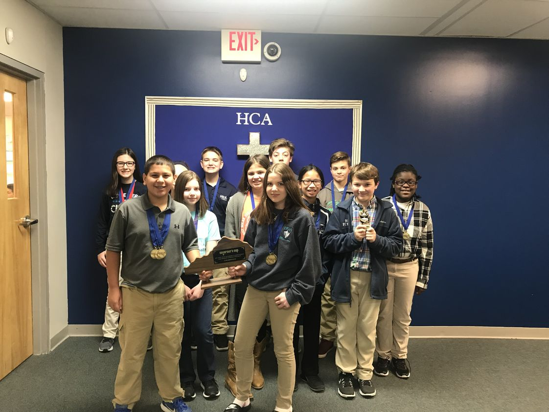 Heritage Christian Academy Photo - Middle School Academic Team