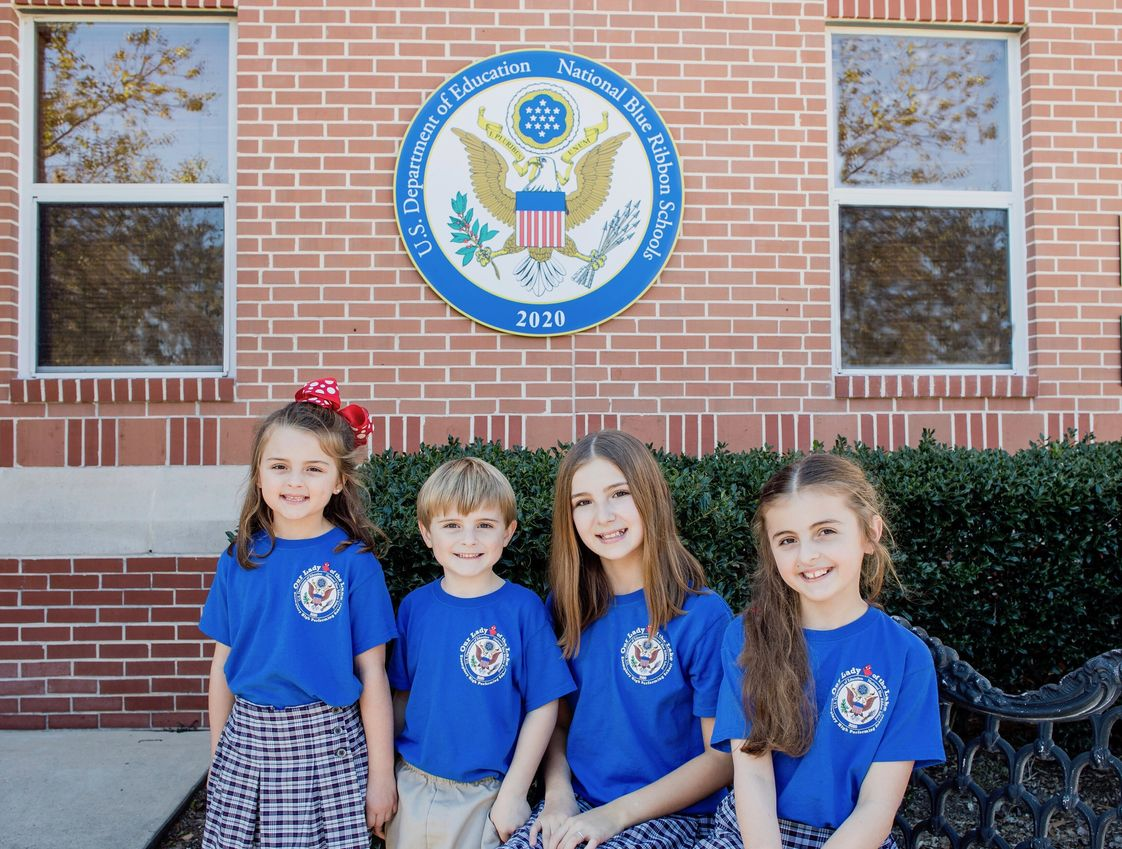 Our Lady of the Lake Roman Catholic School Photo - OLL has been recognized by the U.S. Secretary of Education as a 2020 National Blue Ribbon School of Excellence, the highest national honor a school can receive. This is the third time since 2004 that OLL has received this award, making it the only elementary school in the state of Louisiana to be a three-time winner.