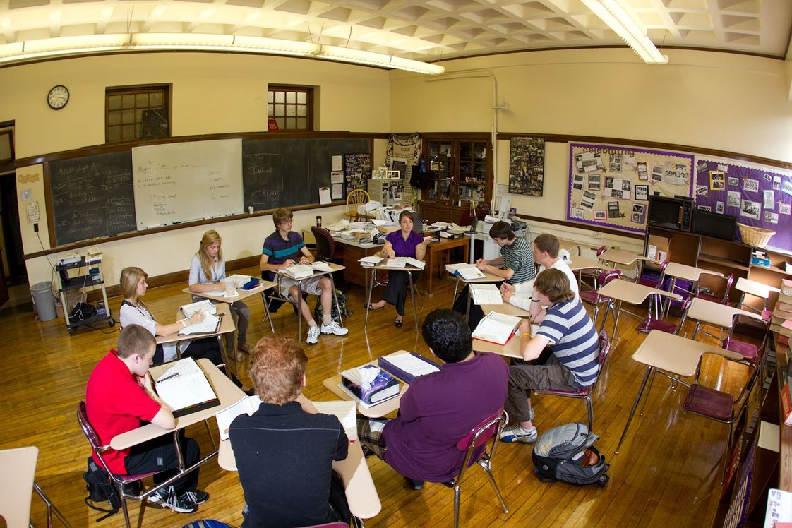 John Bapst Memorial High School Photo - John Bapst offers an Accelerated English Program for International Students, which prepares non-native speakers for the same college entrance examinations - the SAT and AP exams - that American students take. Program participants take English and social science classes alongside American students. They also attend a second class daily in vocabulary, grammar, and pronunciation and receive help in specific class content areas. The John Bapst English Pledge, which applies during the school day and to television and movies on the weekends, is considered important to the student's overall language improvement.