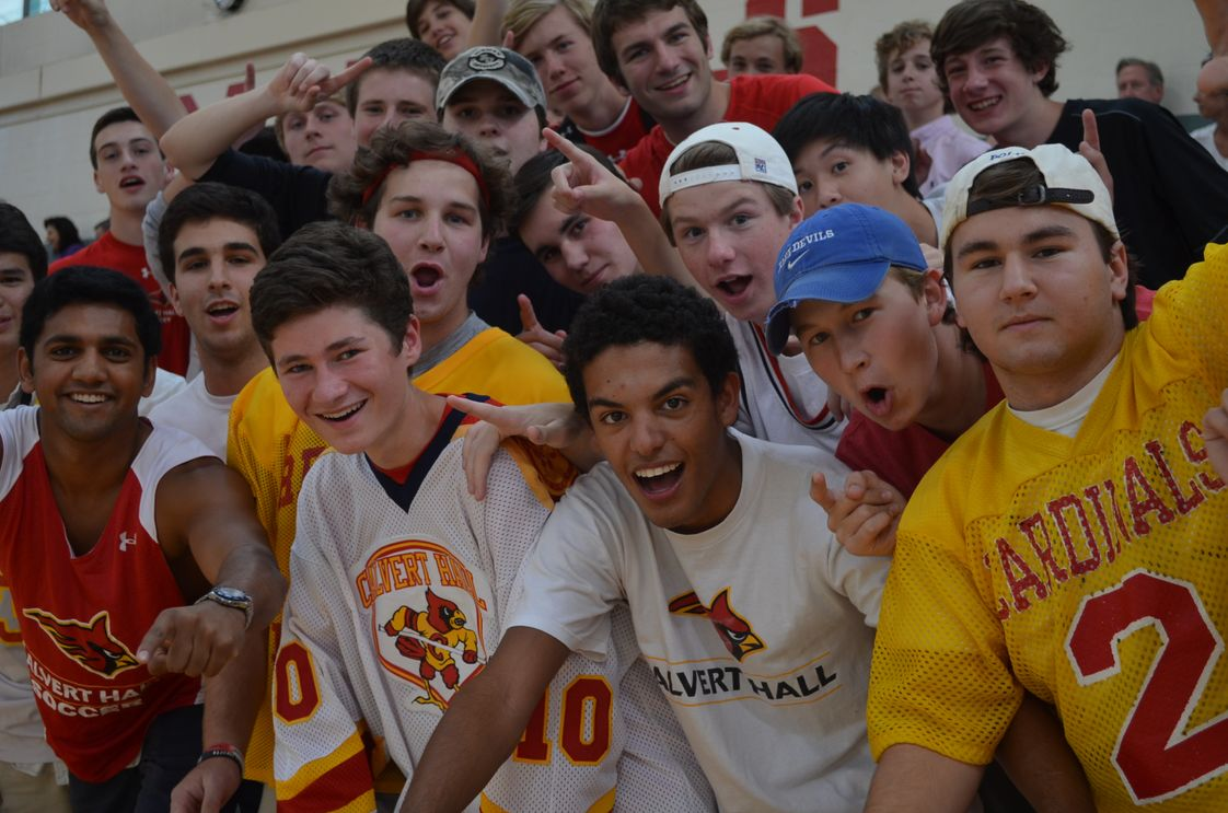 Calvert Hall College High School Photo #1 - Calvert Hall students love to support their peers and cheer on teams, like at volleyball matches pictured here.
