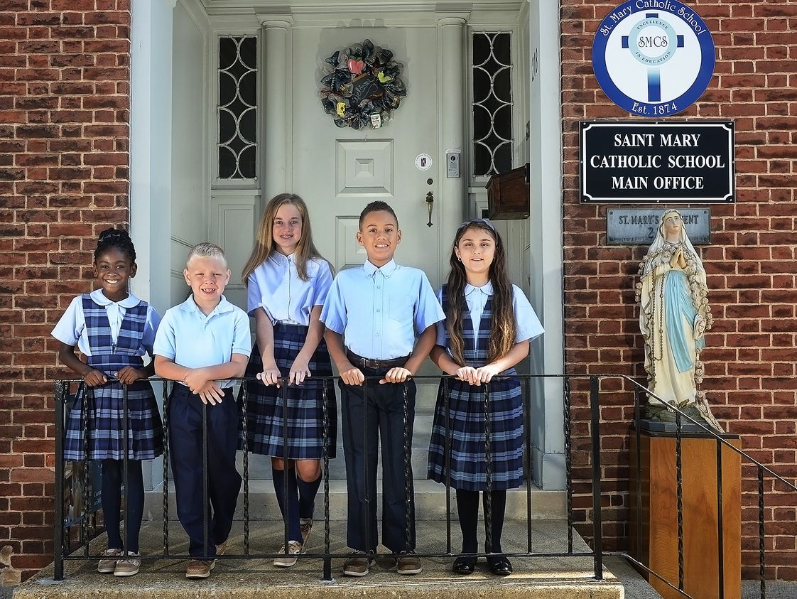 St. Mary Catholic School Photo #1 - St. Mary Catholic School students extend an open invitation for you to witness a faith-filled education behind these doors.