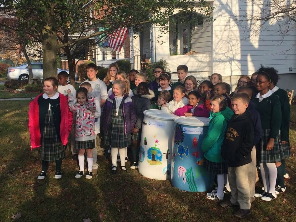 St. Michael-st. Clement School Photo - Barrels for the Bay project completed by our 1st and 2nd graders