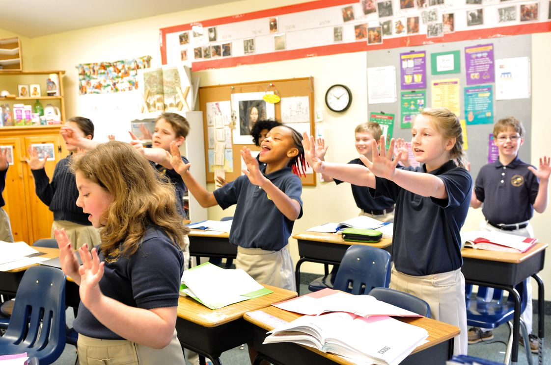St. Stephens Classical Christian Academy Photo - At SSCCA, students are actively involved in the learning process. The use of songs and recitation makes learning facts fun.