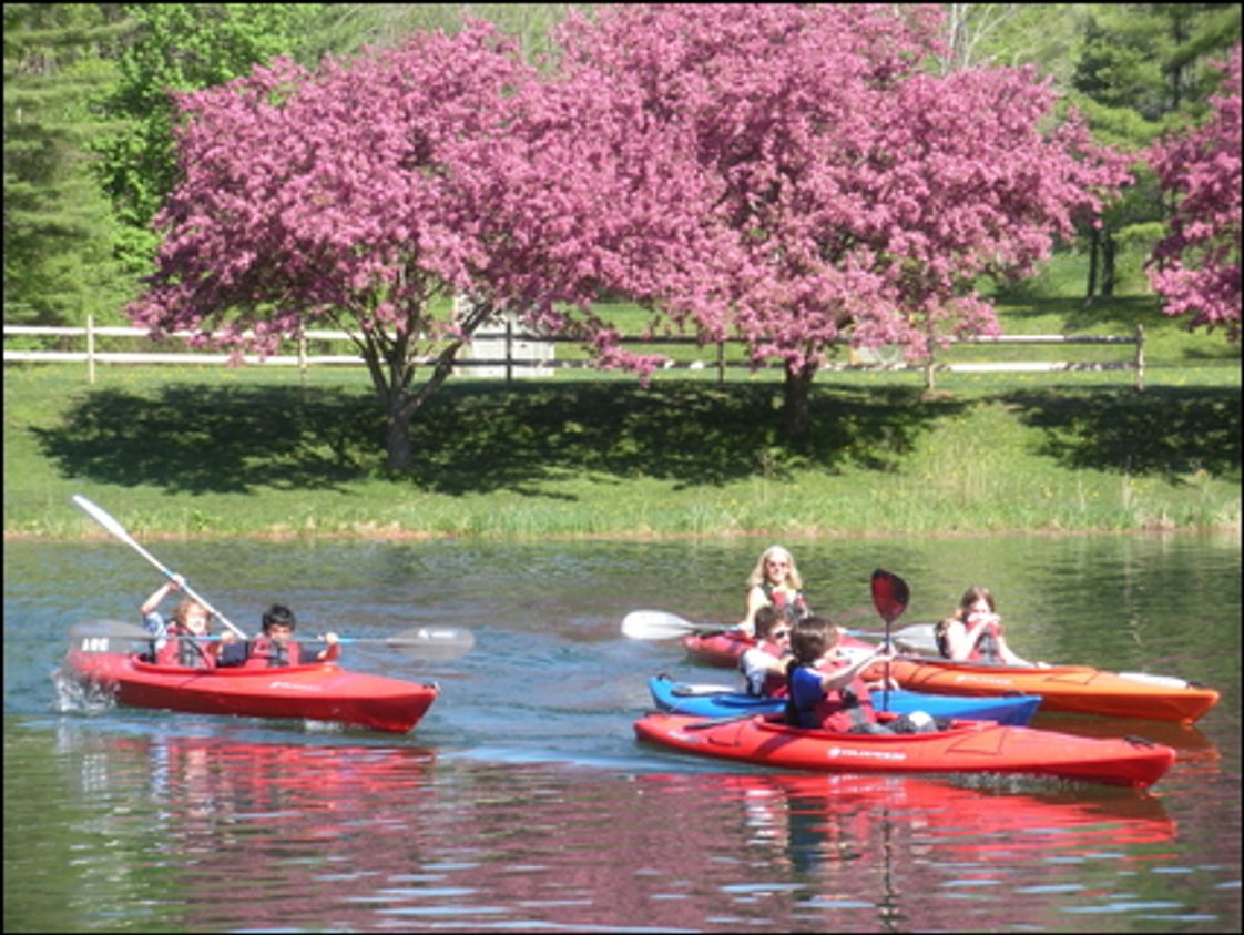 Berkshire Country Day School Photo #1 - Kayaking in the Spring for PE