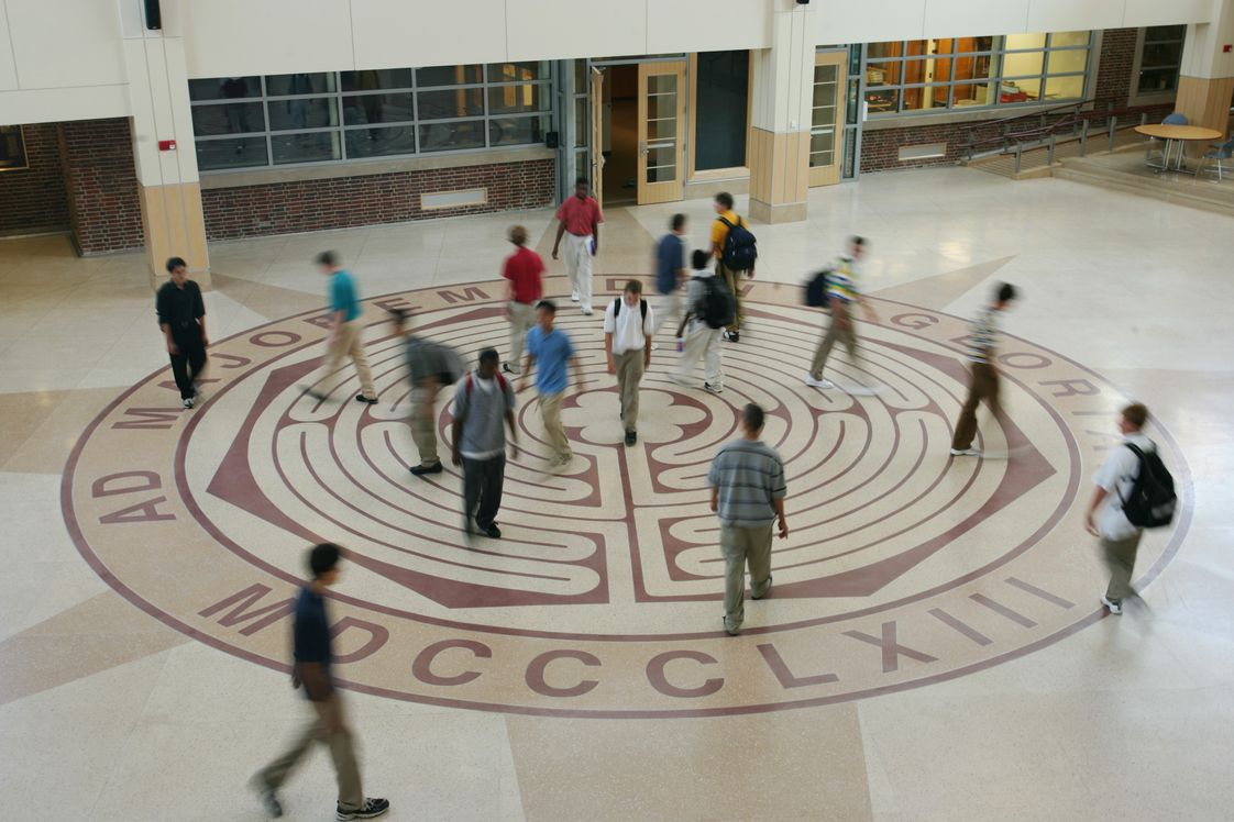 Boston College High School Photo - The labyrinth in our main common area provides a metaphor for the reflective journey you take through life, as well as the internal discovery of yourself.