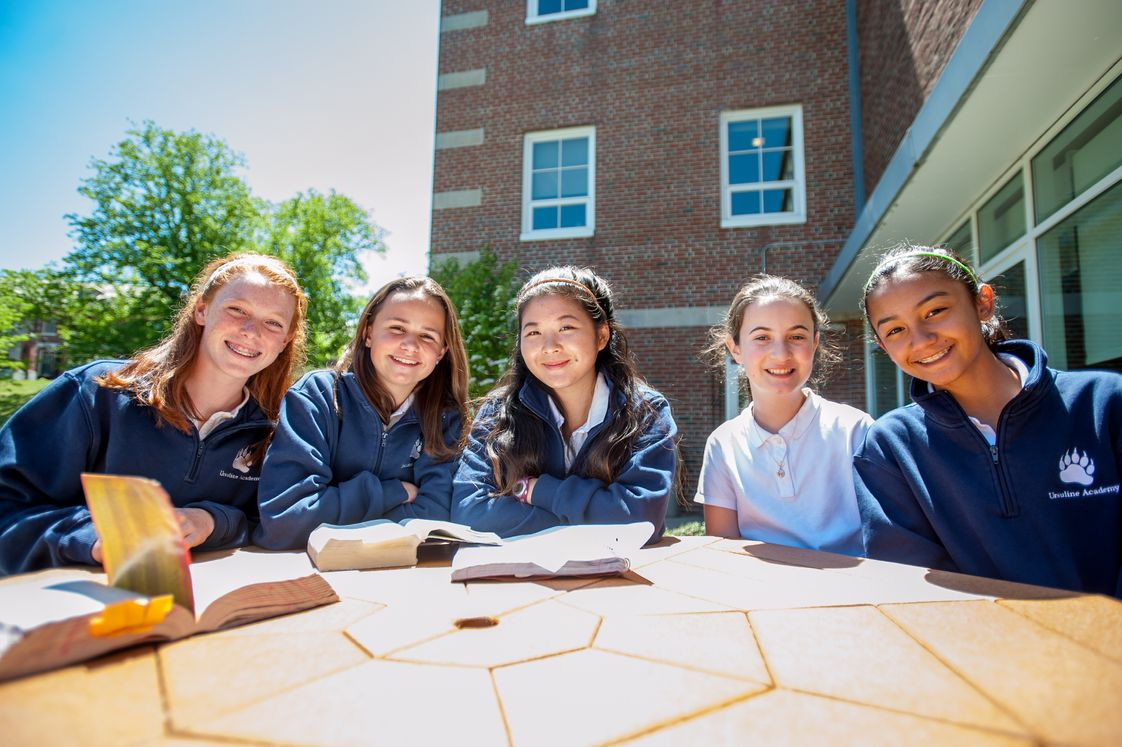 "Ursuline Academy Photo - ""Sisterhood"" is a word frequently used to describe friendships at Ursuline that often transcend grade levels."