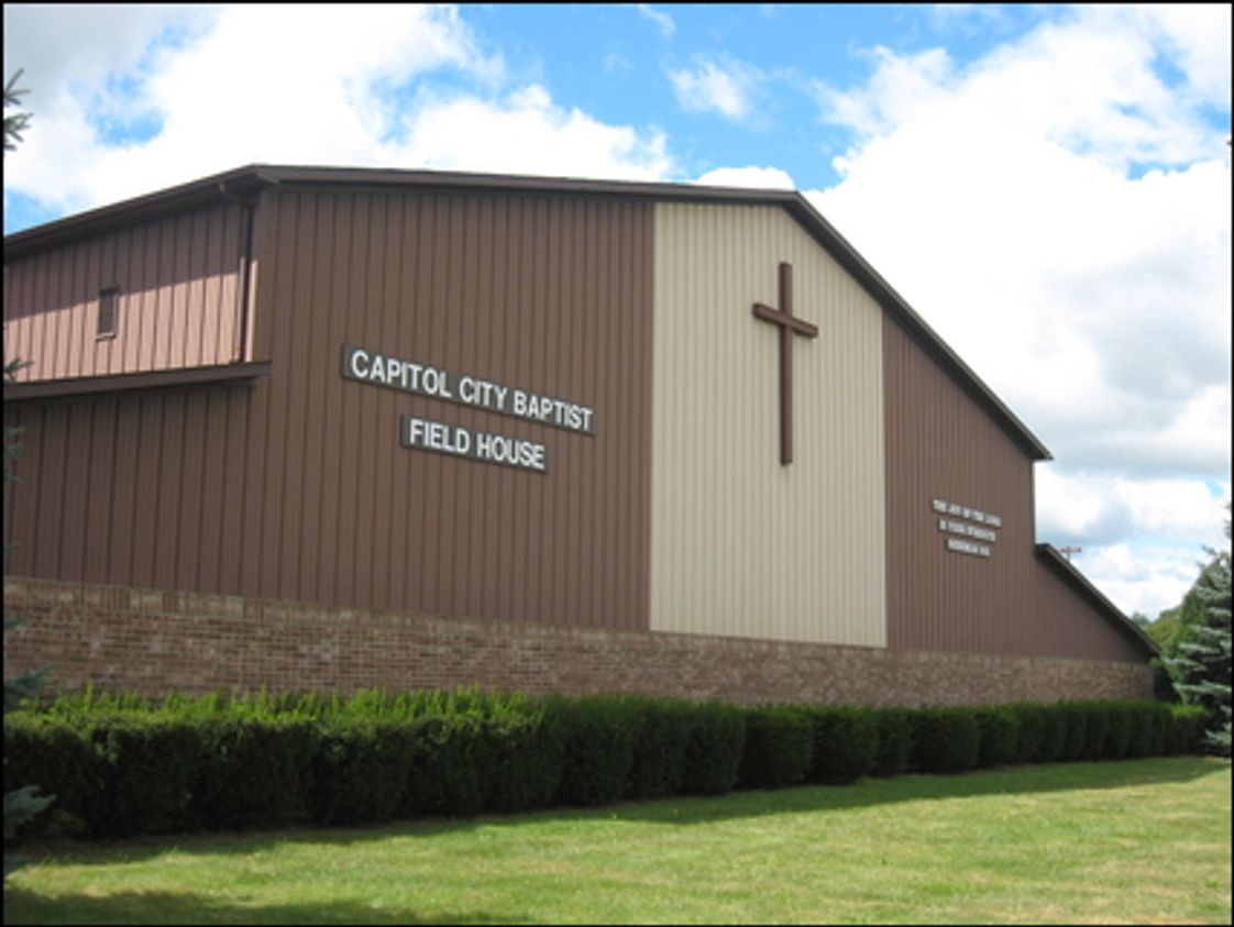 Capitol City Baptist School Photo - This building houses the full size gym with locker rooms and concession stand, along with K5 through 4th grade classrooms.