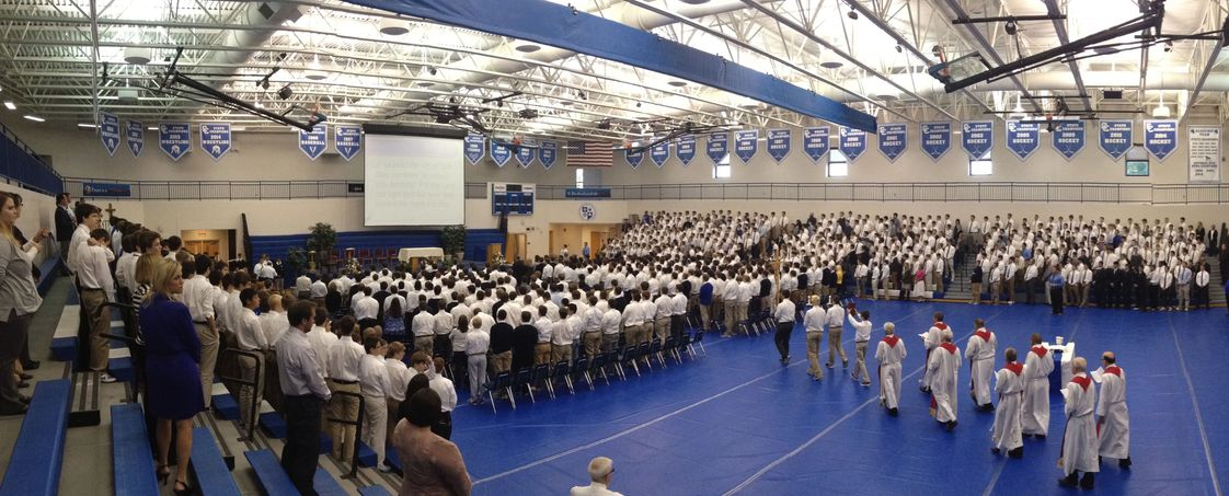 Catholic Central High School Photo #1 - An All-School Mass in our main gym
