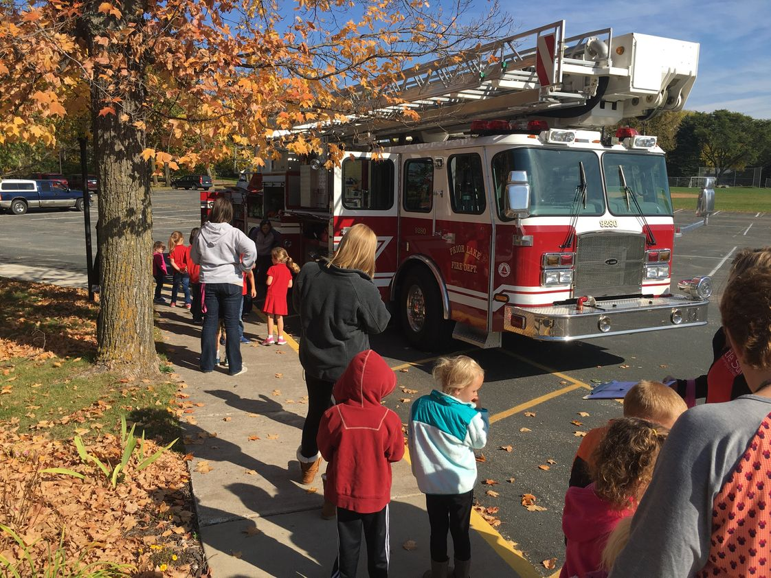 St. Paul's Lutheran School Photo - Visit from the fire department!