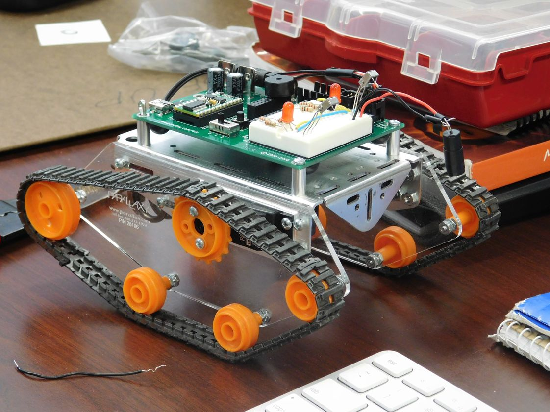 Trinity Catholic High School Photo - Trinity is in the second year of our new ROBOTICS course.