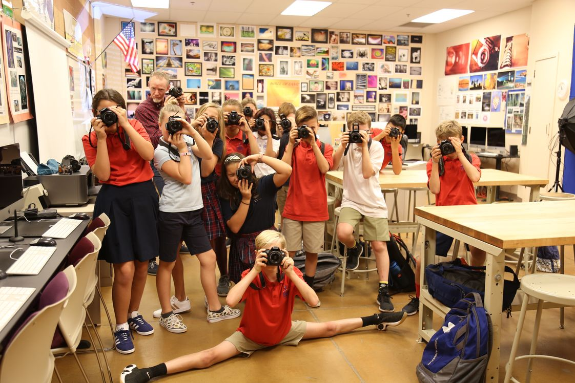 The Alexander Dawson School at Rainbow Mountain Photo #1 - Mr. Finfrock's 6th-grade Photography students ready for action!