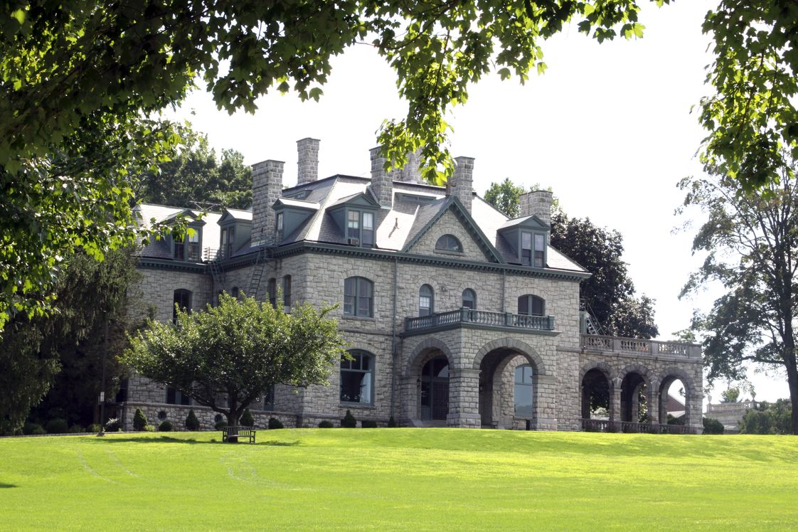 Delbarton School Photo - Old Main, a mansion built in 1880 as the summer residence of the Kountze family, is the centerpiece of Delbarton's 200 acre campus.