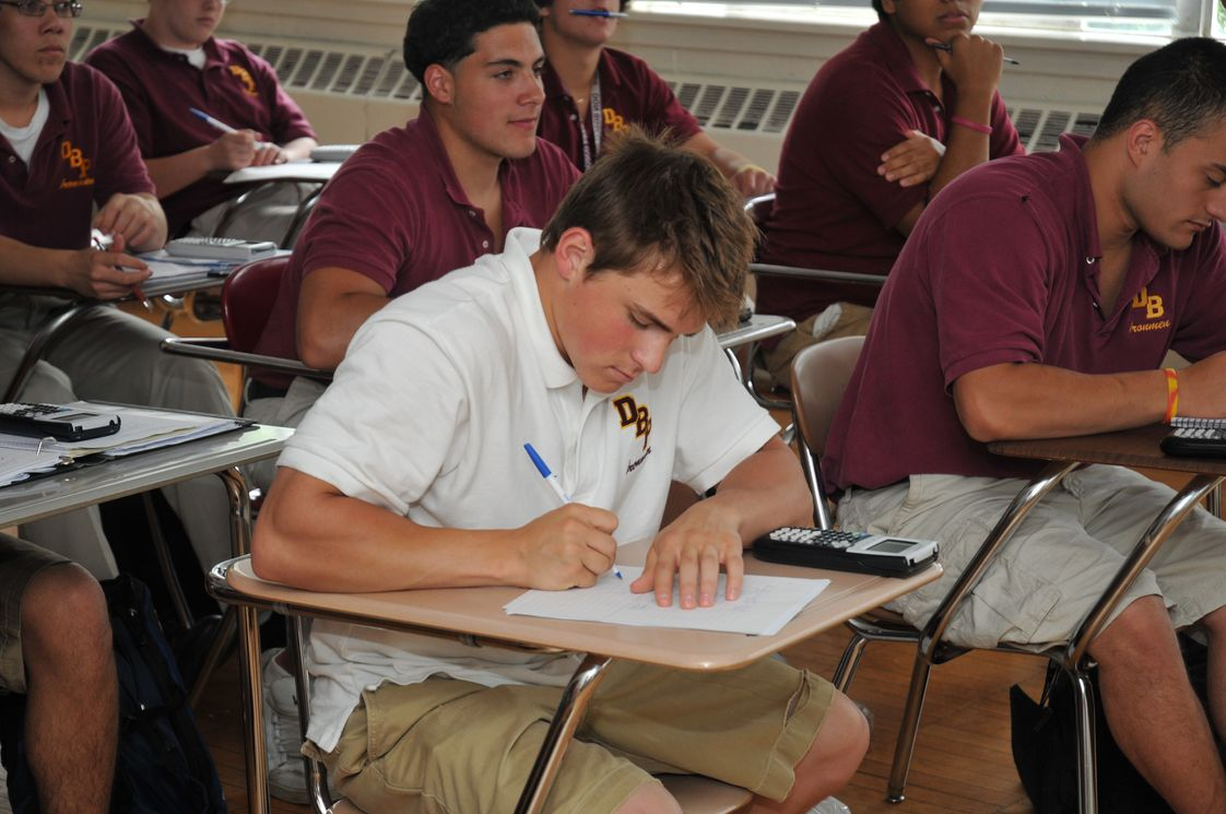 Don Bosco Preparatory High School Photo #1 - Math classes are required for all four years at the Prep, and students study at the college prep, honors, or advanced placement levels.
