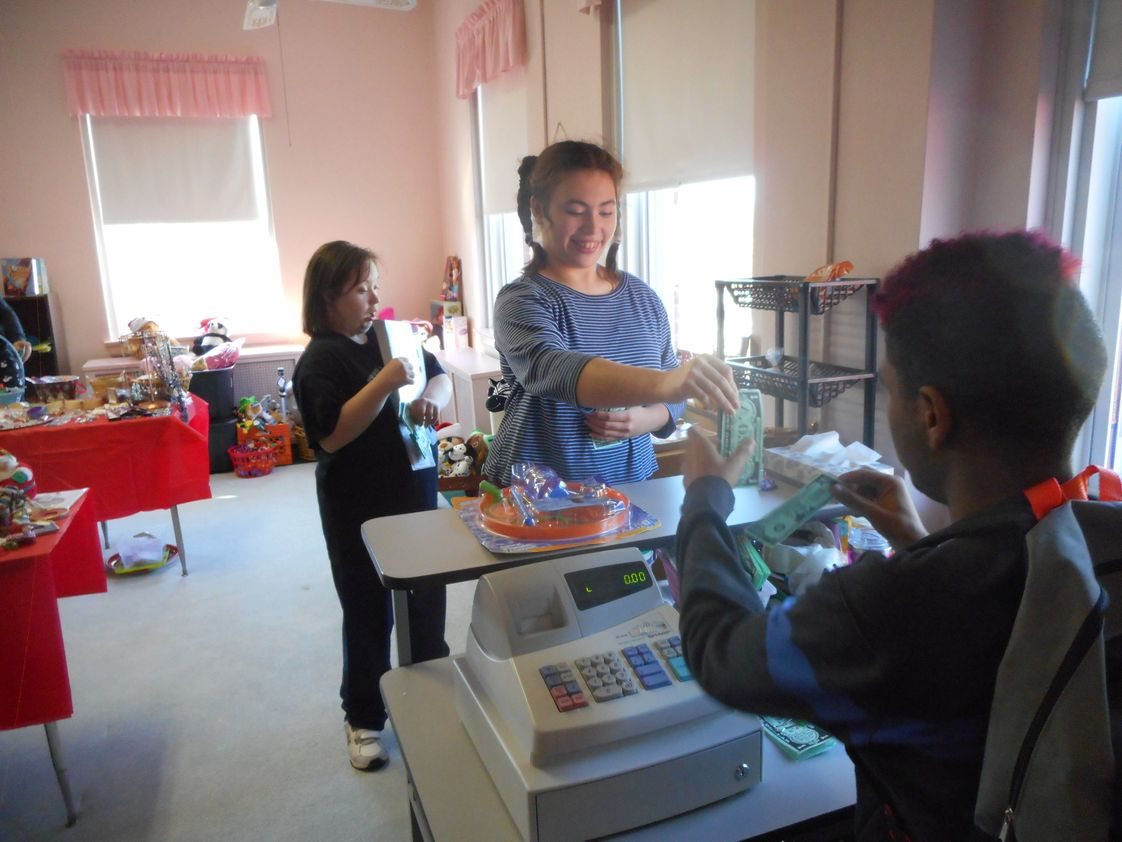 Felician School For Exceptional Children Photo - Students working and shopping at the School Store