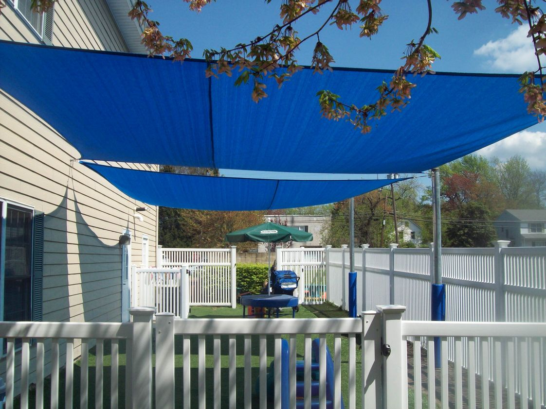 The Goddard School Photo - shaded play area for the toddlers.