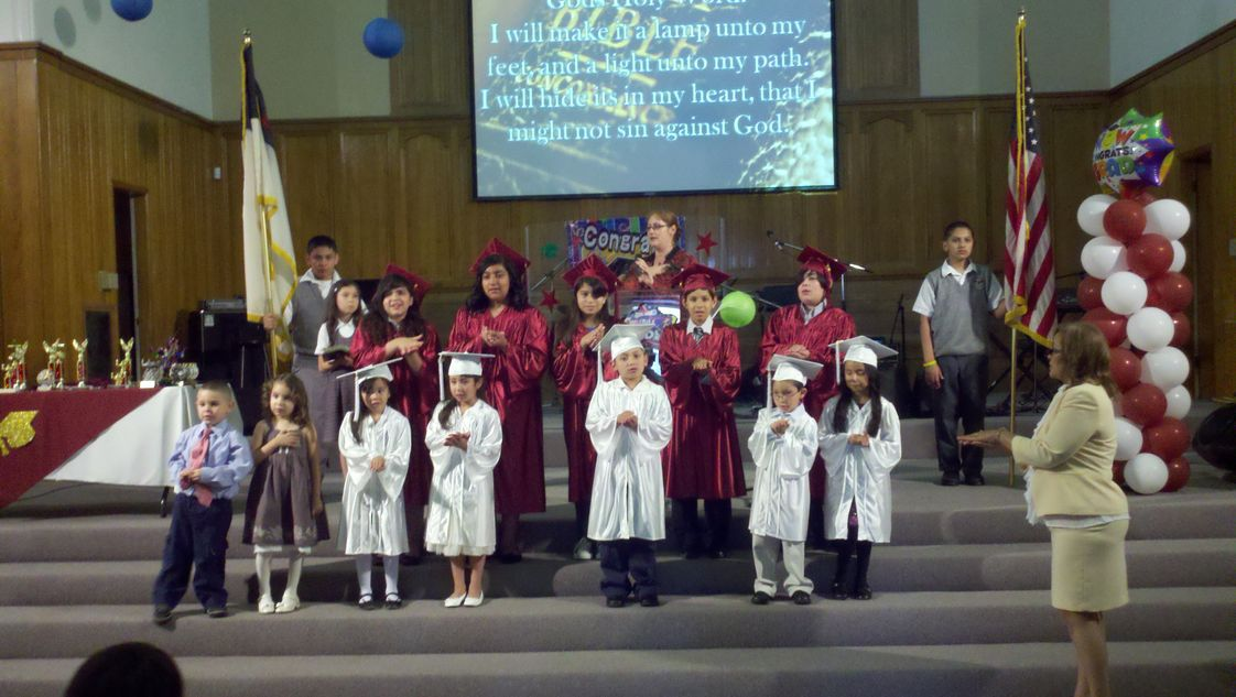 Maywood Christian School Photo - Kinder and 6th Grade Promotion