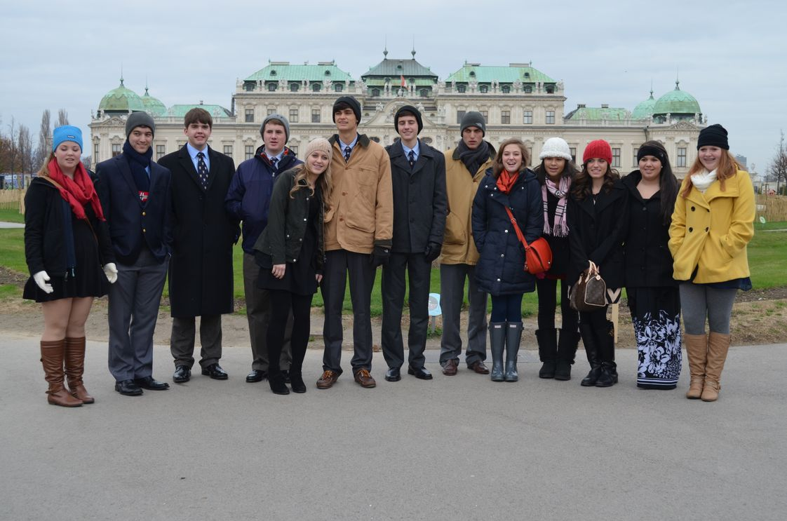 The Burlington School Photo #1 - Our Upper School Choral Singers in Vienna, Austria, where they observed foreign art and culture, and sang before an international audience!