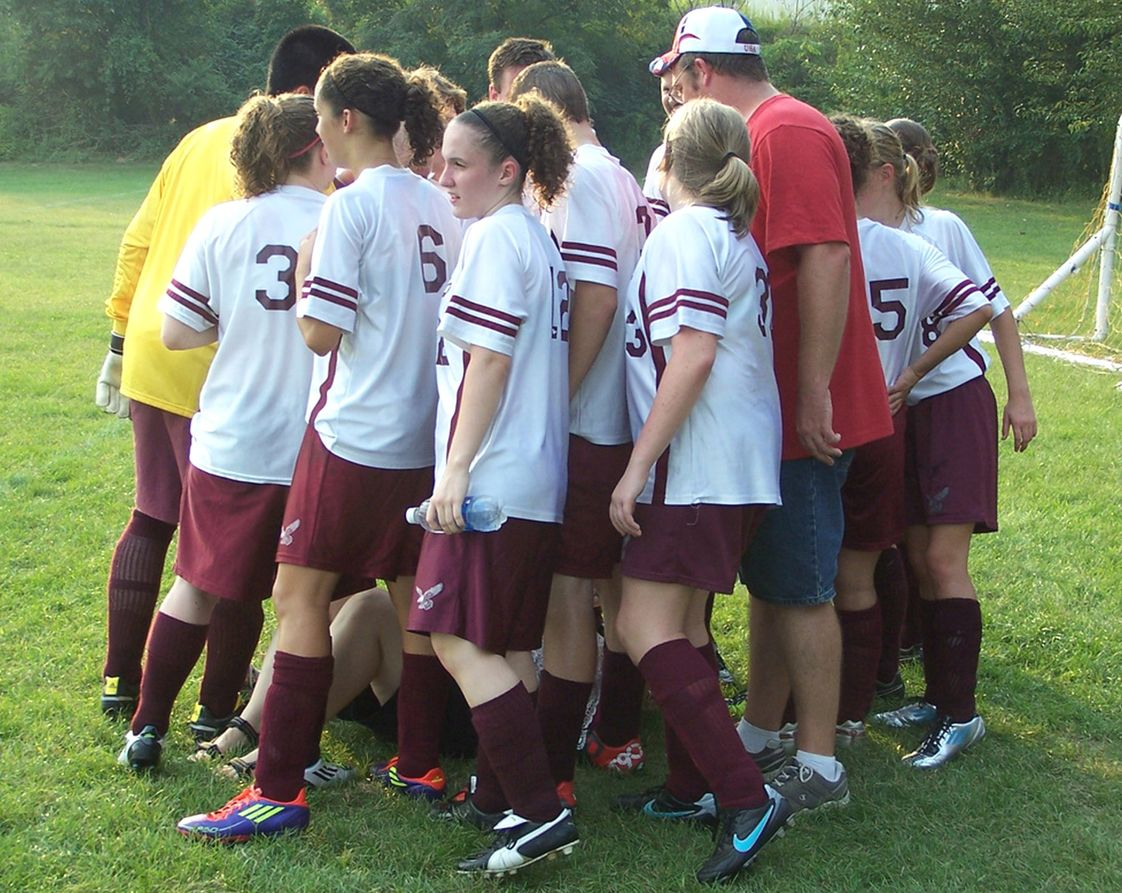 Champion Christian School North Campus Photo #1 - Soccer team huddle