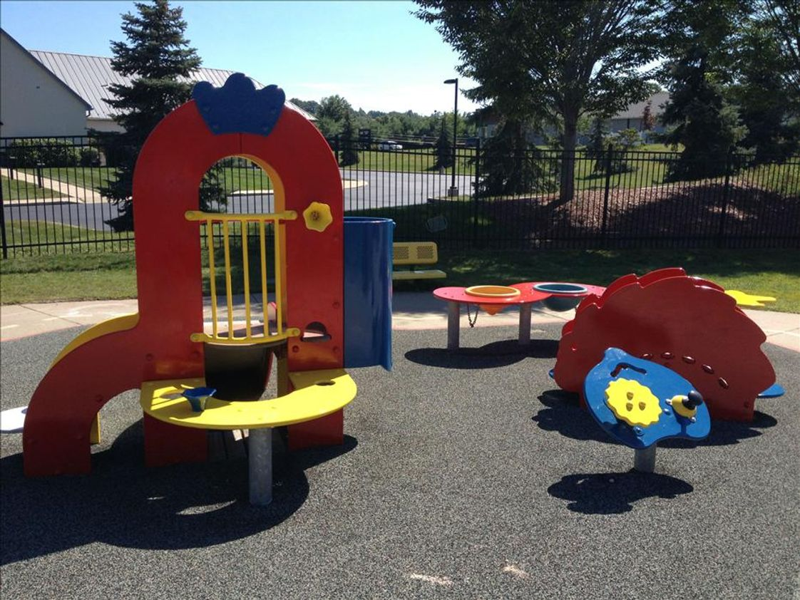 Kinder Care Learning Center Photo #1 - Infant/Toddler/Discovery Preschool Playground: We make sure our little ones are building their muscles as well as their minds!