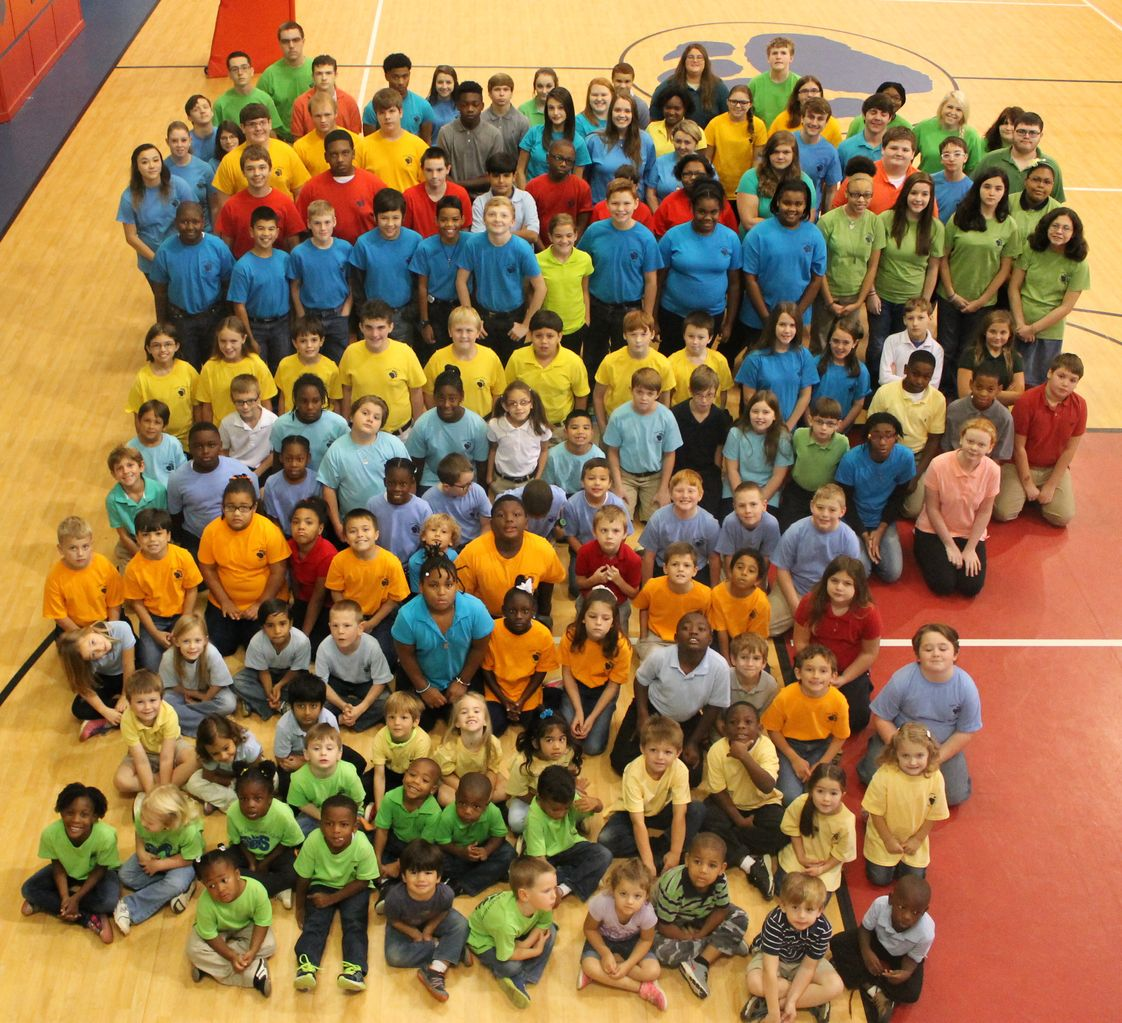 "Sumter Christian School Photo - Student body wearing their ""class t-shirt"""