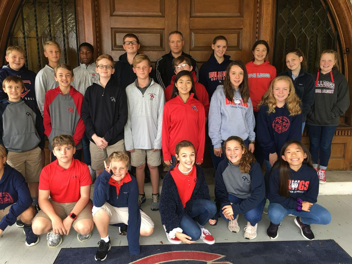 Columbia Academy Photo - One of our Upper School classes touring our historic campus!