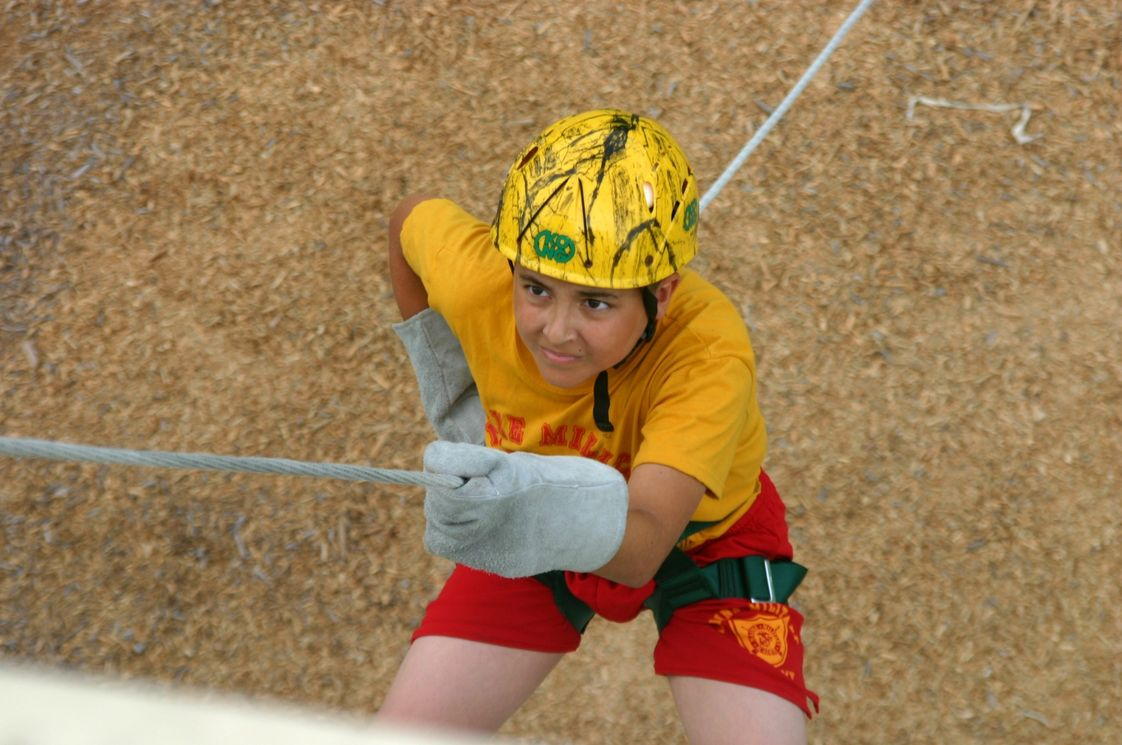 Marine Military Academy Photo - Summer Camp Repelling Tower Activity