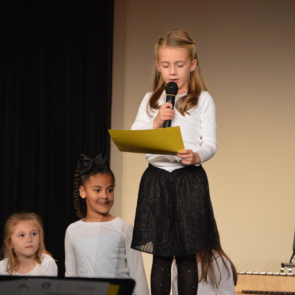 Fredericksburg Academy Photo - Public speaking begins in prekindergarten and is a hallmark of a Fredericksburg Academy education.