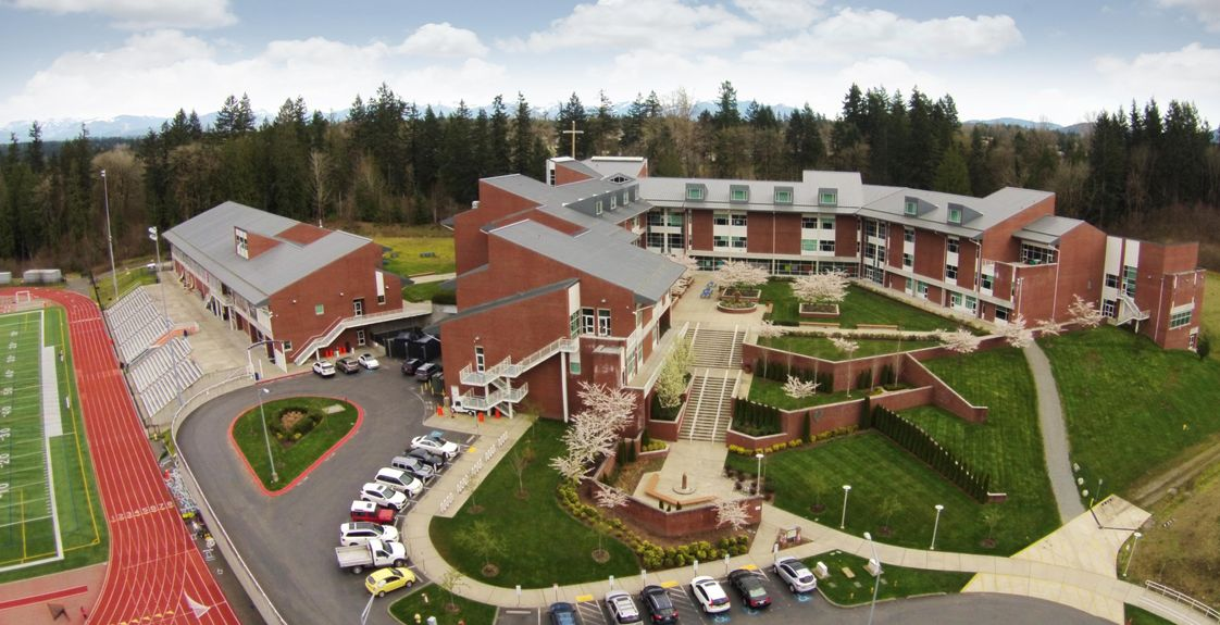 Eastside Catholic School Photo - Our campus is situated on 50 beautiful acres and surrounded by protected wetlands and forest.