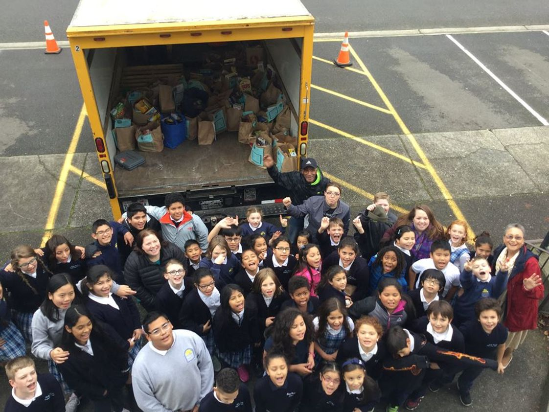 Holy Rosary School Photo - Food Bank Drive! Helping our community!