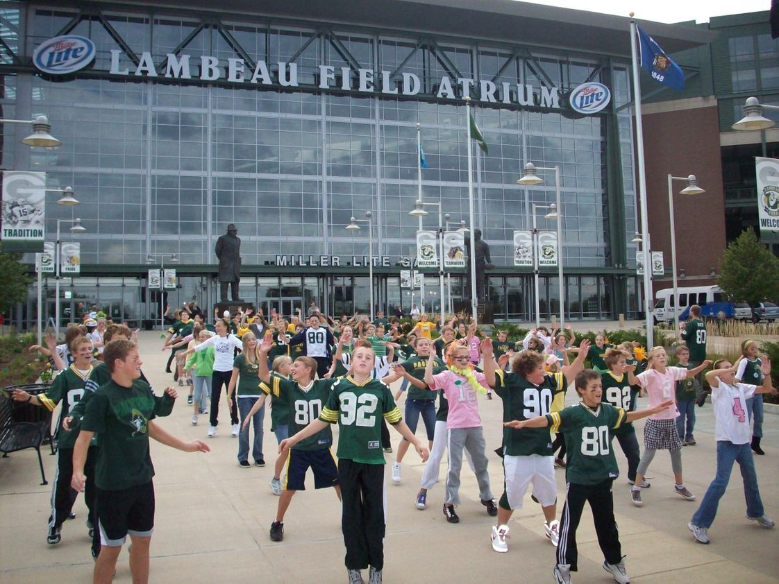 St. Mark Lutheran School Photo #1 - Not every school gets to do this! St. Mark is only 2 blocks from Lambeau Field, and we walked there to celebrate NFL Play 60. Fitness and exercise are important to us at St. Mark.
