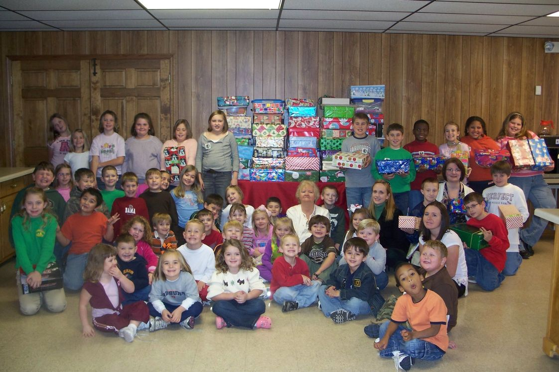 Marshall Christian Academy Photo #1 - MCA collected over 145 shoeboxes for Operation Christmas Child. These shoeboxes were sent to children all over the world at Christmas.