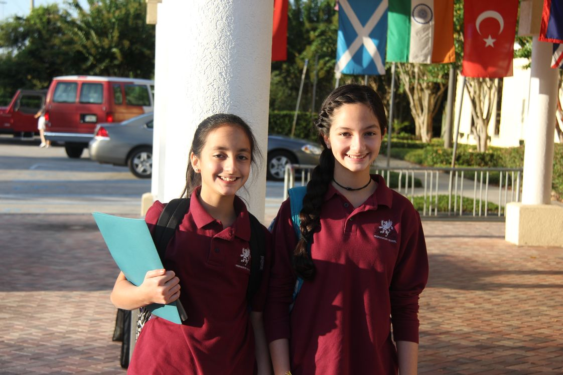 Lake Mary Preparatory School Photo #1 - Sisters all ready for the first day of school.