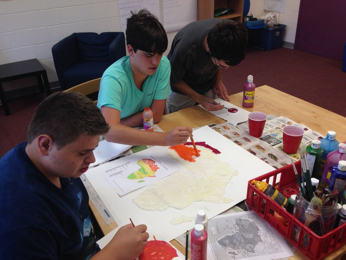 Threshold Community Program (formerly The Community School) Photo - Geography-Learning about the Biomes of Africa