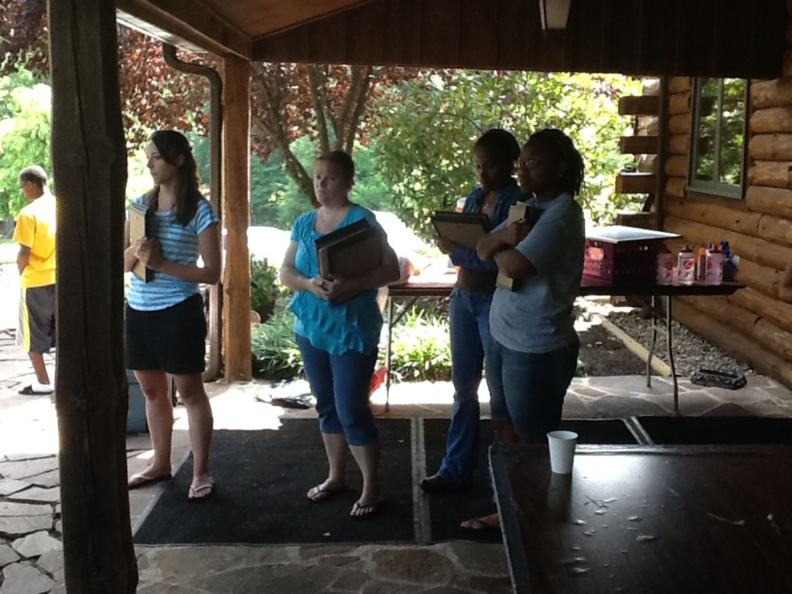 The Nativity School Of Harrisburg Photo #1 - Nativity teachers ready to give out awards at Camp Shekillemy.