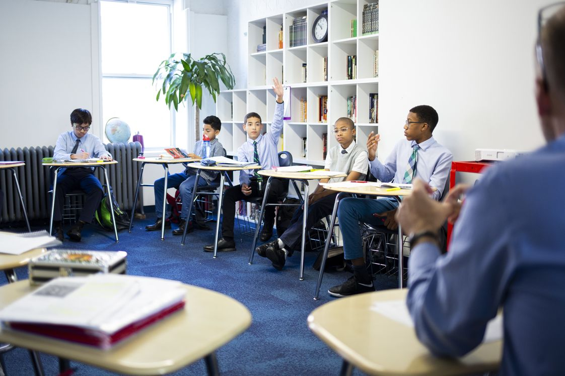 George Jackson Academy Photo - George Jackson Academy students build confidence in their support systems and themselves as they tackle challenging work.