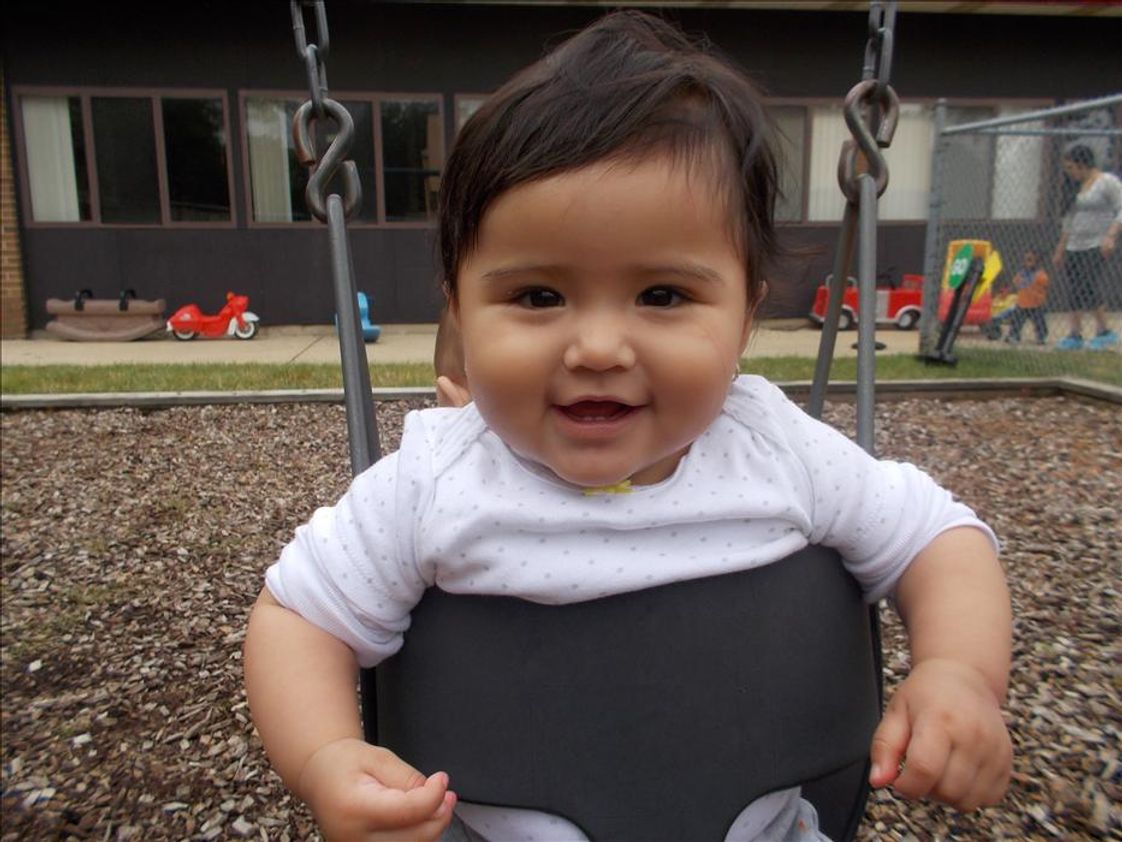 West Schaumburg KinderCare Photo #1 - Our infants enjoy both time in the classroom and outside the classroom.