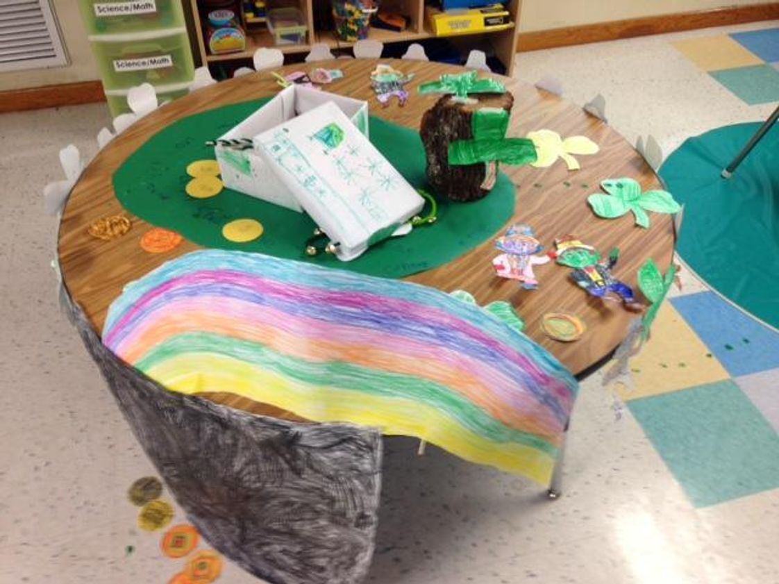 Alafaya Woods KinderCare Photo #1 - How to catch a leprechaun activity.